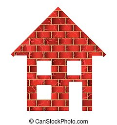 red brick house or home with roof and windows