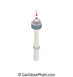 Tower in Seoul icon, isometric 3d style - Tower in Seoul...