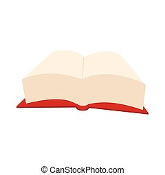 Opened big book icon, cartoon style - Opened big book icon...
