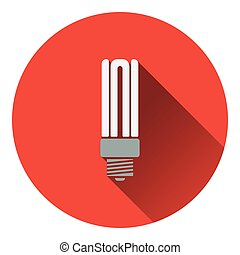 Energy saving light bulb icon Flat design Vector...