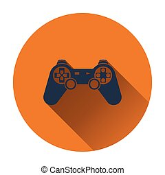 Gamepad icon Flat design Vector illustration