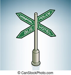 Street Sign (part of On the Street Items Isometric 3D Icons...