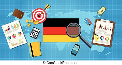 germany economy economic condition country with graph chart...