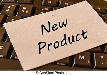 New product concept on keyboard background - New product...