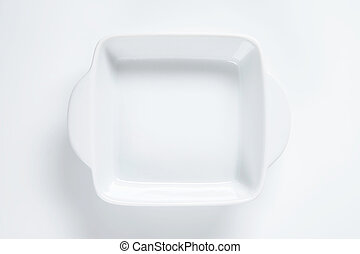 square baking dish with two ears - white ceramic baking dish...