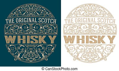 Whisky retro label