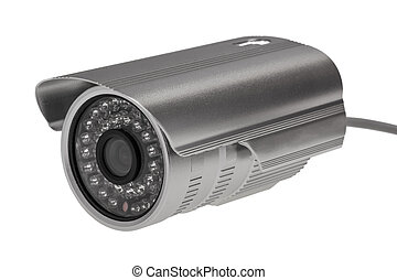 External security surveillance camera with night vision LED...