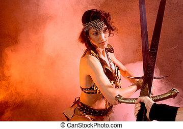medieval, guerreira