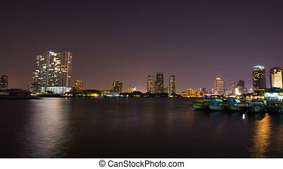Bangkok City Chao Phraya River