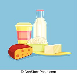 Dairy products Milk products Farm products Cheese, milk,...