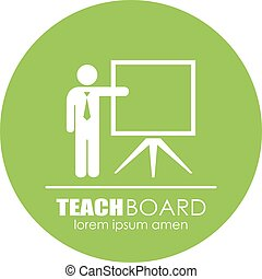 Teacher presentation icon