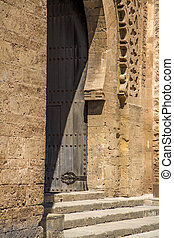 Door in Rabat - Close view of the entrance of a building in...