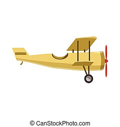 Biplane icon, cartoon style - Biplane icon in cartoon style...