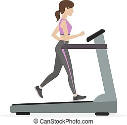 Fitness girl on the treadmill