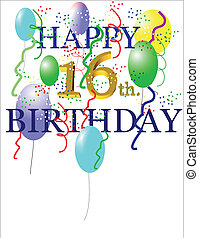 happy 16th bday - 16th bday greeting for equal gender on...
