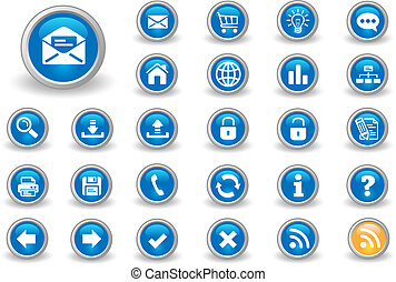 Internet buttons for your website.