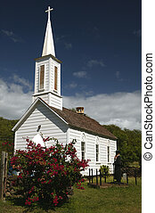 Father Damien\'s Church on Molokai in Hawaii