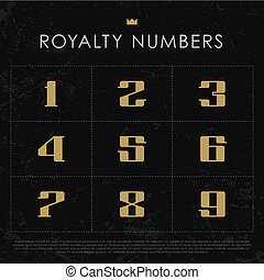 Vector Gold Numbers.
