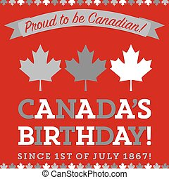 Retro sash Canada Day maple leaf card in vector format