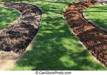 Two Pathways in Garden