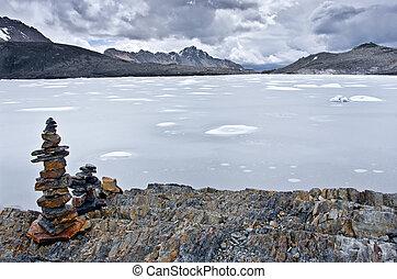 Pastoruri glacier in Cordillera Blanca Northern Peru -...
