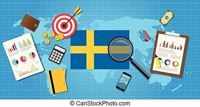 sweden swedish economy economic condition country with graph...