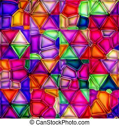 multicolour stained glass seamless texture