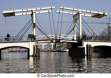 DrawBridge Of Amsterdam - Popular drawbridge in Amsterdam in...