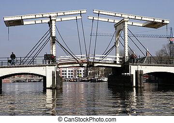 puente levadizo, de, Amsterdam
