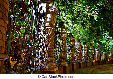 Fence at Church of the Saviour on Spilled Blood (Spas na...