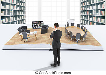 Businessman looking at office