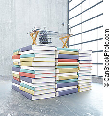 Education concept colorful books