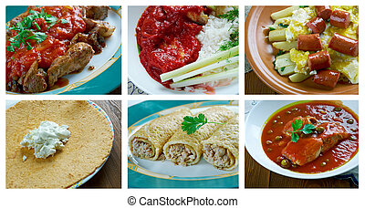 mexican dish - southern food set.mexican dish
