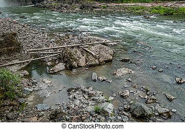 Snoqualmie River Rapids 2 - The Snoqualmie River flows past...