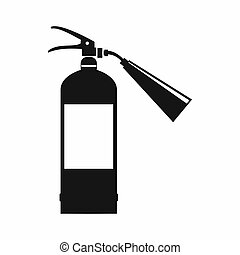 Fire extinguisher icon, simple style - Fire extinguisher...