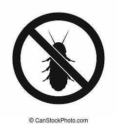 No termite sign icon, simple style - No termite sign icon in...