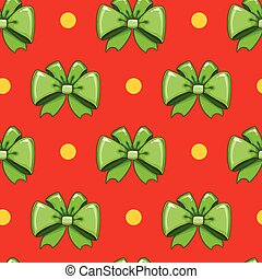Seamless pattern cute cartoon bows