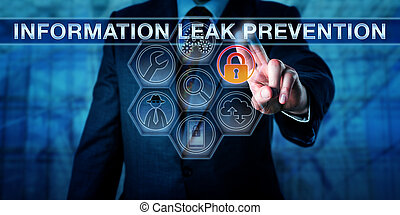 Engineer Touching INFORMATION LEAK PREVENTION - Security...