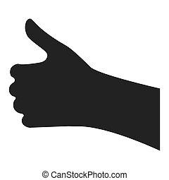 single hand icon , vector