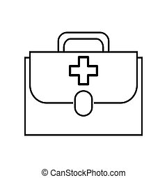 first aid kit , vector - isolated first aid kit with handle...