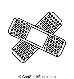 adhesive medical bandage , vector