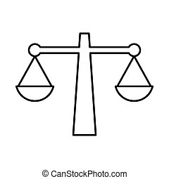 justice scale icon , vector - isolated justice scale icon...