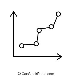 statistical graph icon , vector - isolated statistical graph...