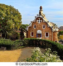 Parc, Guell, en, Barcelona, españa