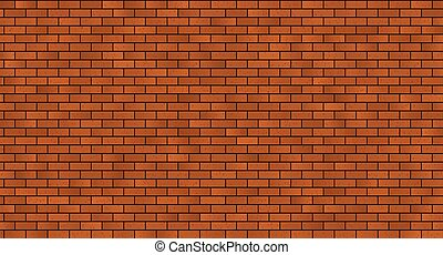 seamless brick masonry. Red brick wall seamless Vector...