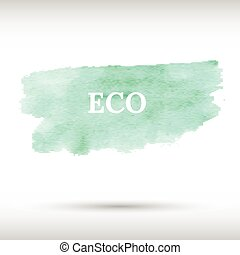 Eco green watercolor background Gradient mesh Realistic...