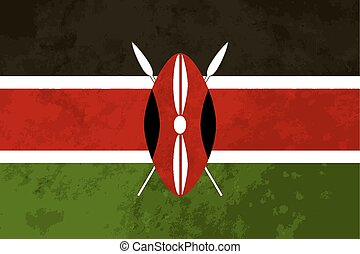 True proportions Kenya flag with texture - True proportions...