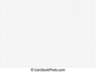 Gray isometric grid with vertical guideline on horizontal a4 sheet
