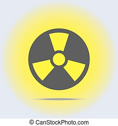 Radioactive icon in gray colors