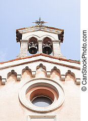 Bell tower, - Small bell tower with a bell of a church
